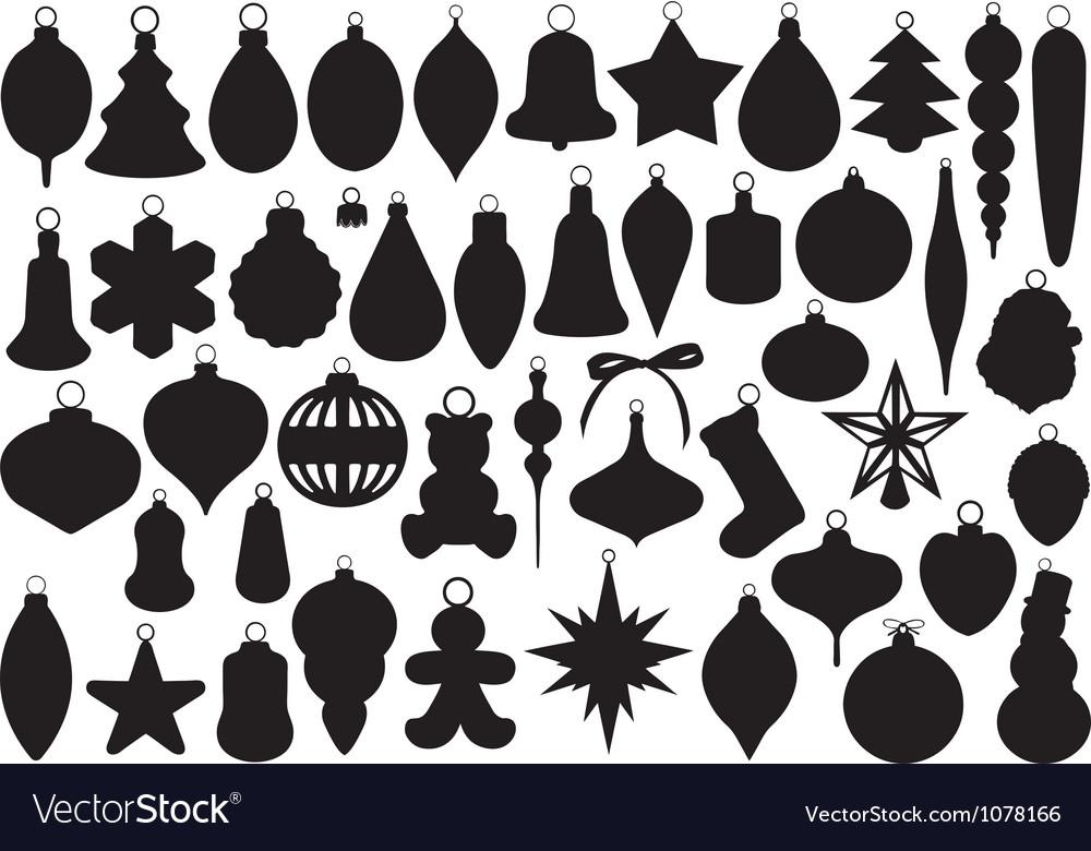 Christmas balls set vector | Price: 1 Credit (USD $1)