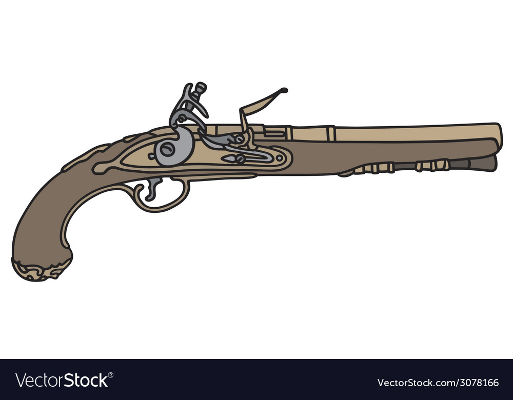 Historical handgun vector | Price: 1 Credit (USD $1)