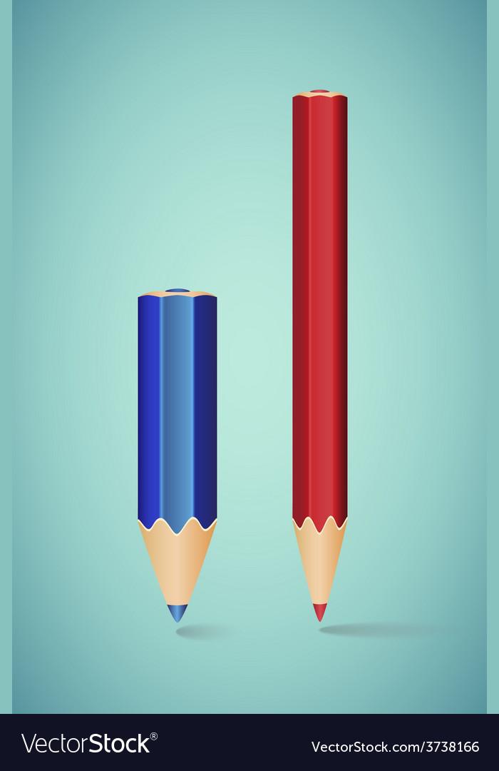 Two vertical pencils vector | Price: 1 Credit (USD $1)