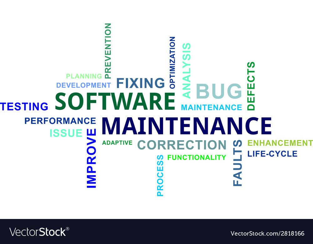 Word cloud software maintenance vector | Price: 1 Credit (USD $1)