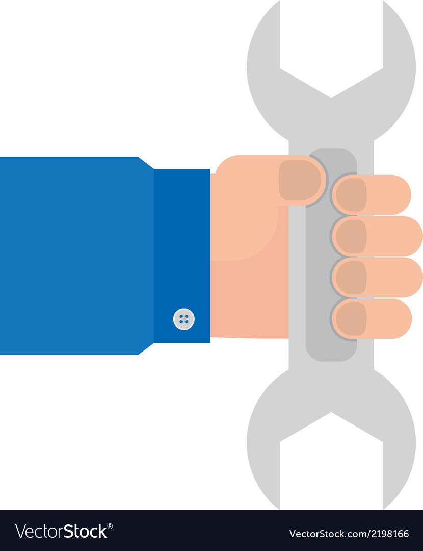 Wrench in hand mechanics vector | Price: 1 Credit (USD $1)