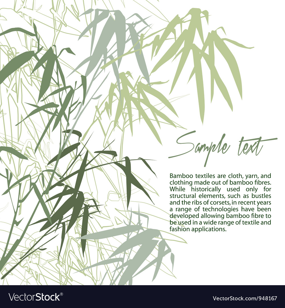 Bamboo floral background with copy space vector | Price: 1 Credit (USD $1)