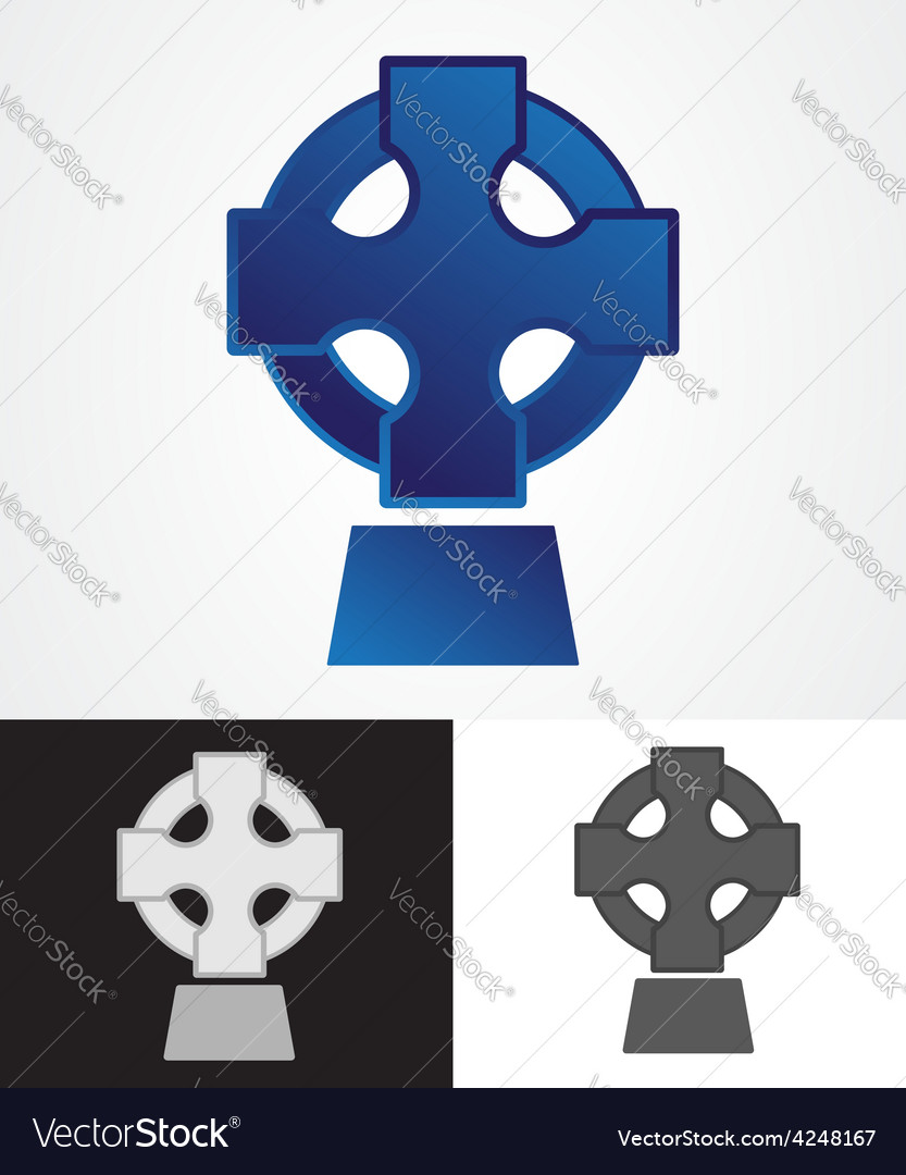 Celtic cross symbol vector | Price: 1 Credit (USD $1)