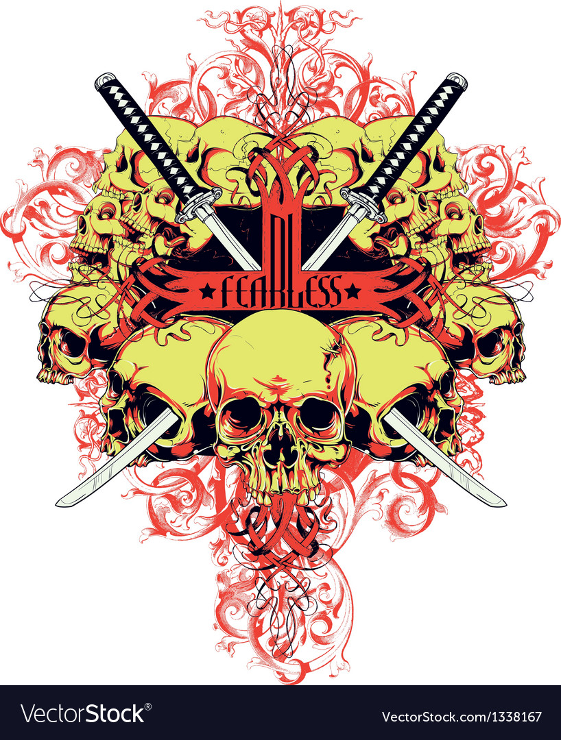 Fearless skulls vector | Price: 3 Credit (USD $3)