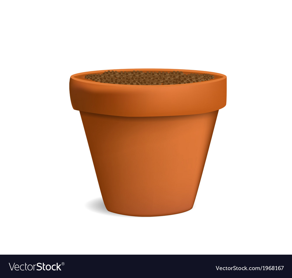 Flowerpot with ground vector | Price: 1 Credit (USD $1)