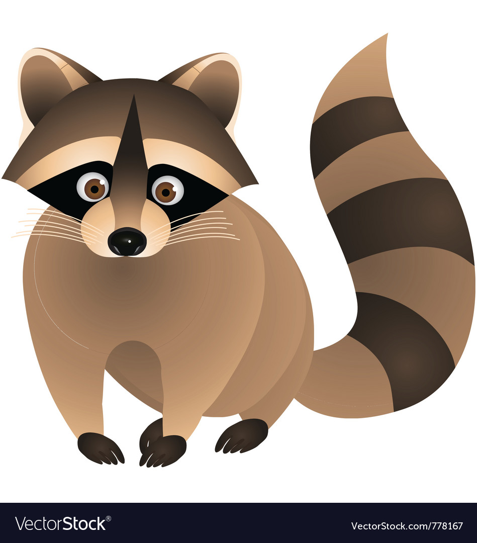Raccoon cartoon vector | Price: 1 Credit (USD $1)