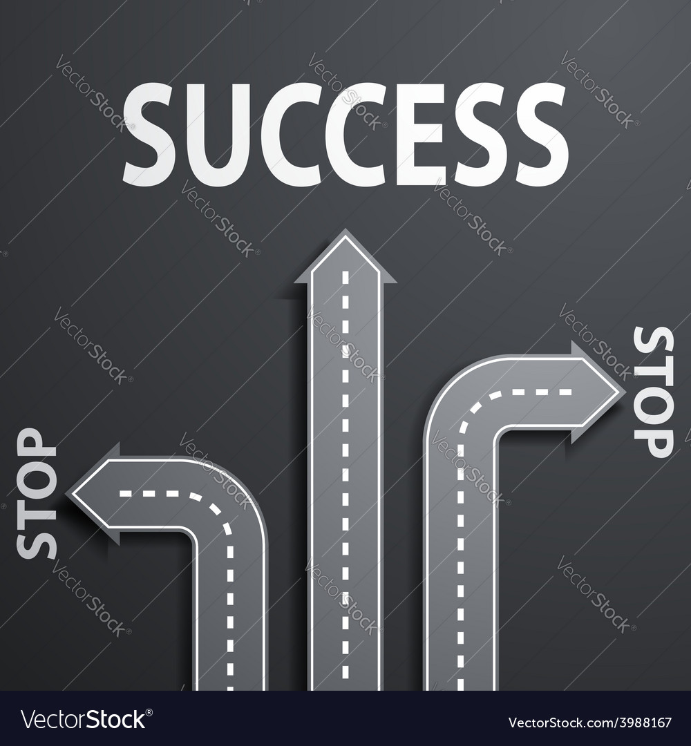Road leading to success vector   Price: 1 Credit (USD $1)