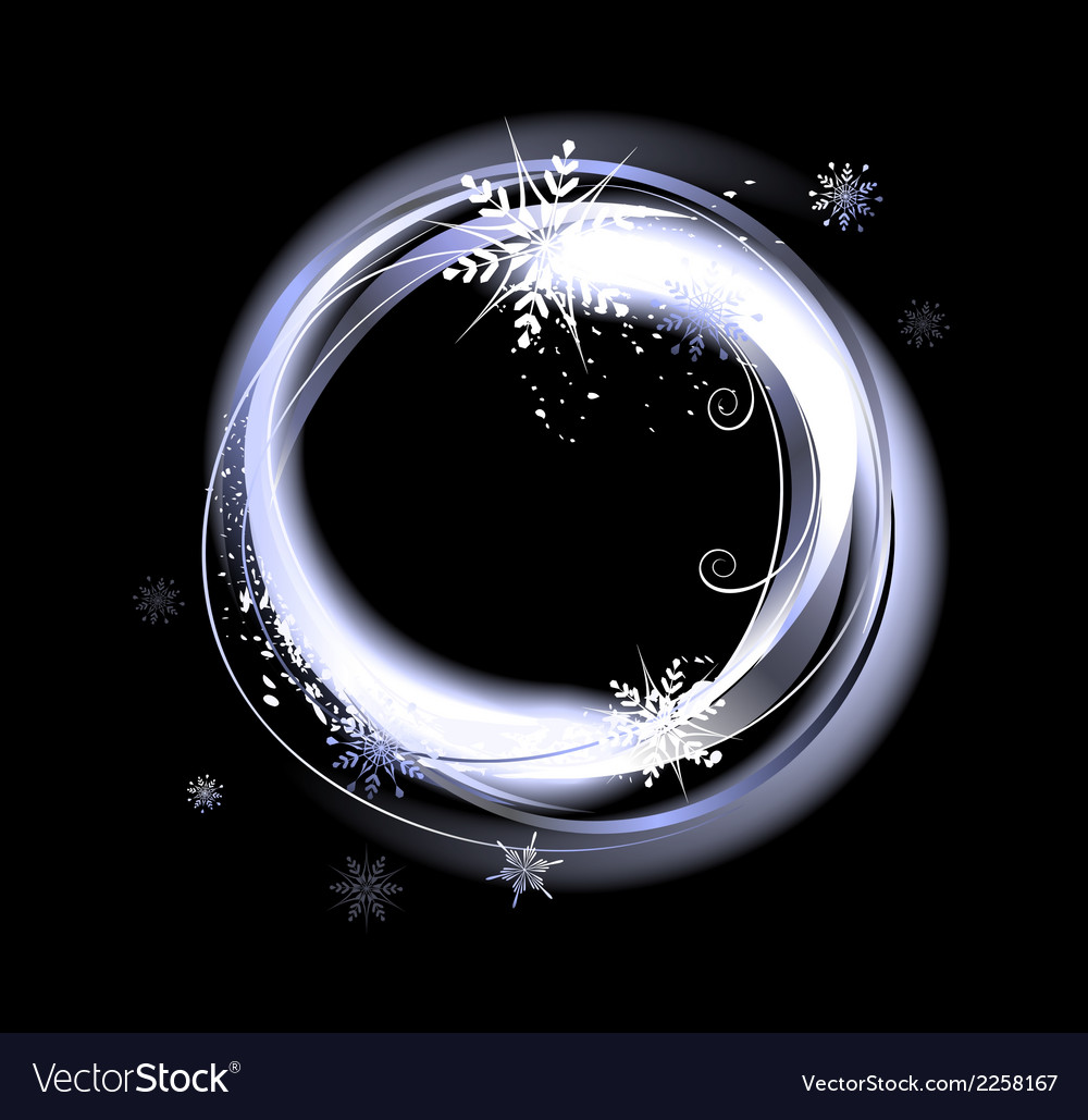 Round snow banner vector | Price: 1 Credit (USD $1)