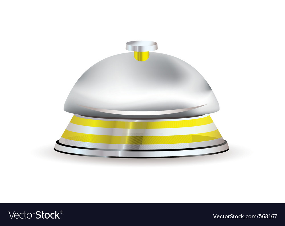 Silver and gold hotel reception bell vector | Price: 1 Credit (USD $1)