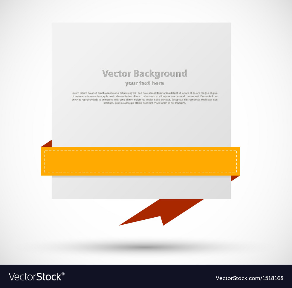 Banner with orange ribbon vector | Price: 1 Credit (USD $1)