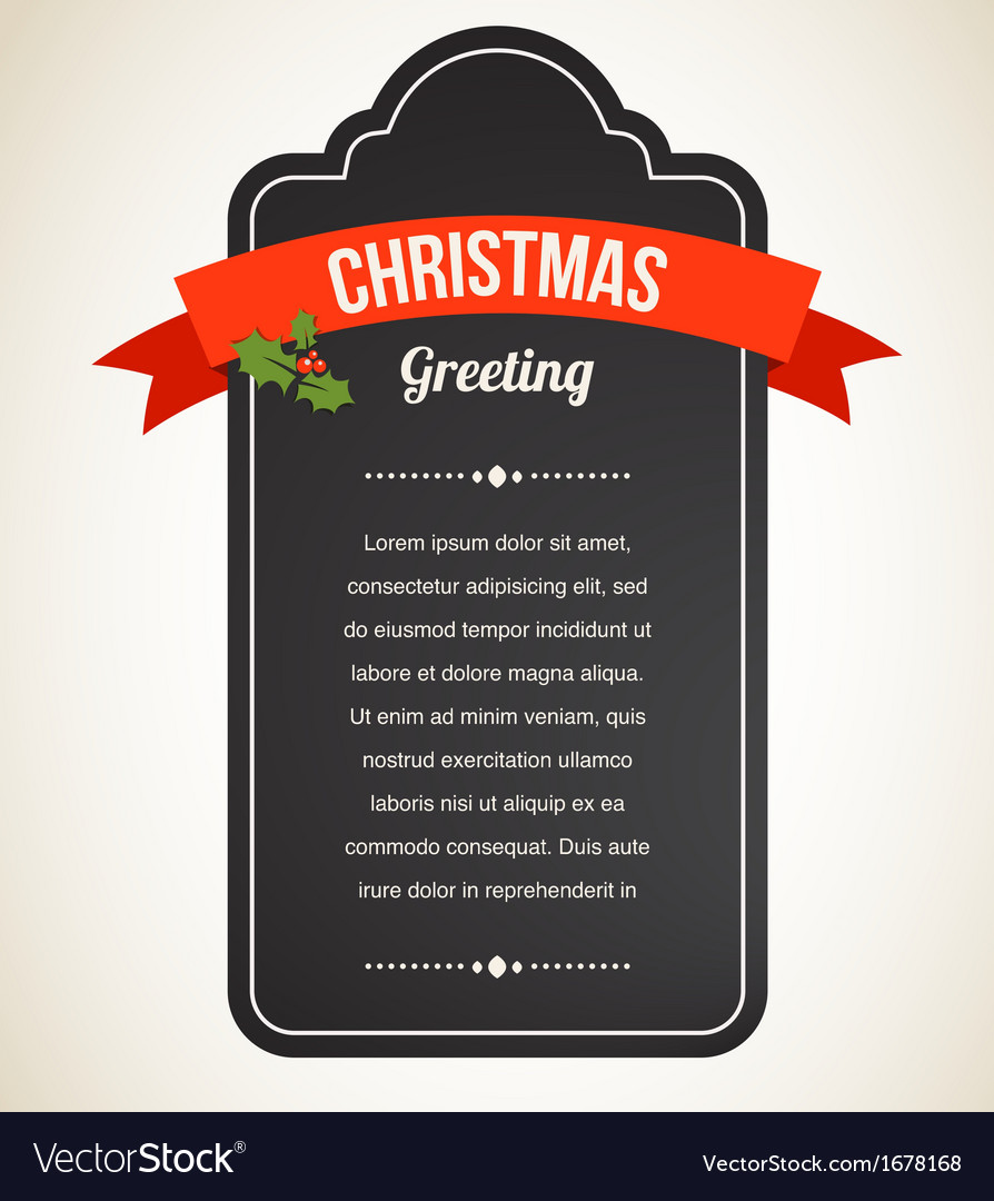 Chalkboard christmas vintage invitation and label vector | Price: 1 Credit (USD $1)