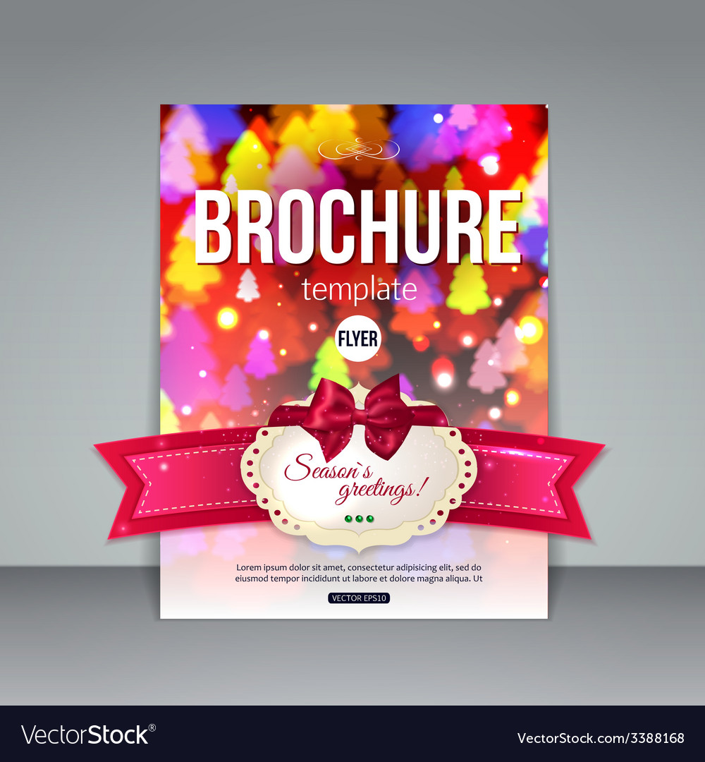 Christmas brochure template abstract flyer design vector | Price: 1 Credit (USD $1)