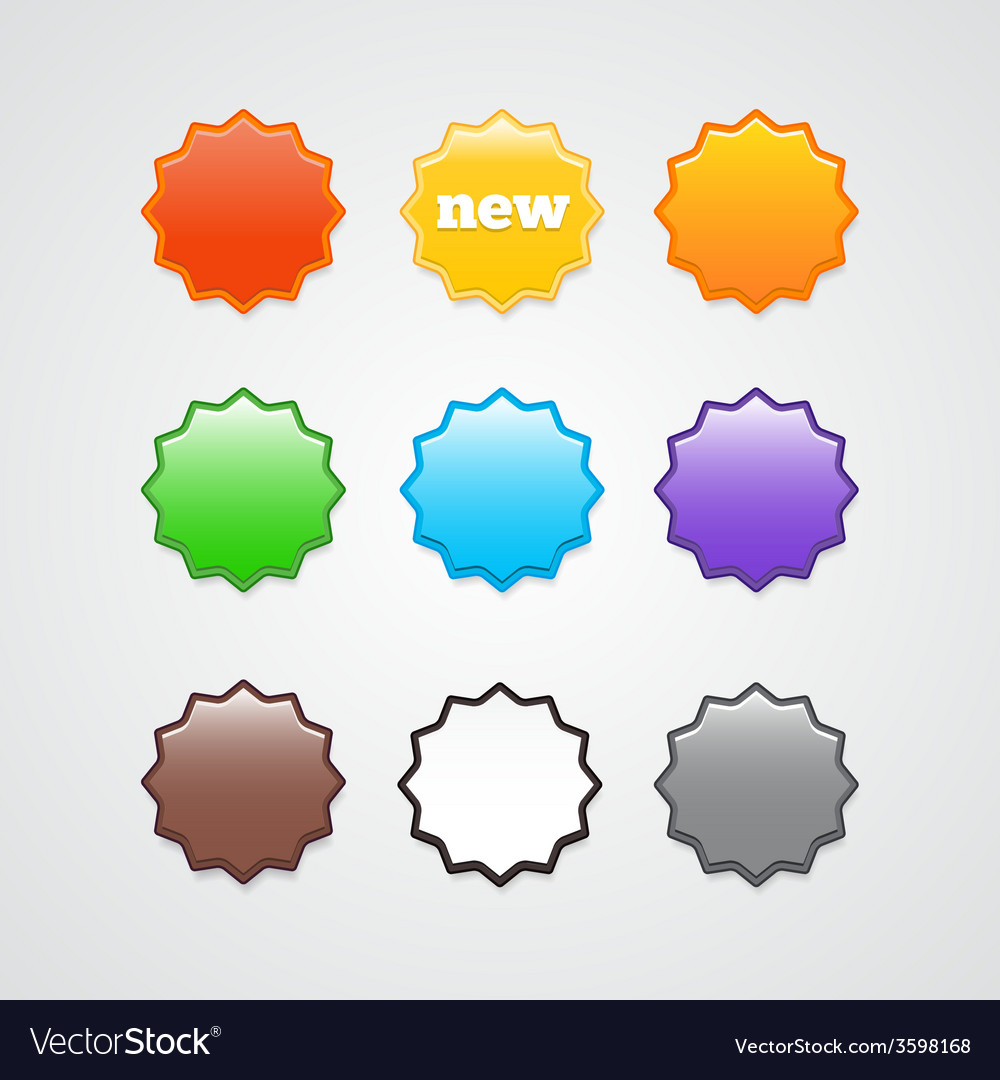 Colorful stickers vector | Price: 1 Credit (USD $1)