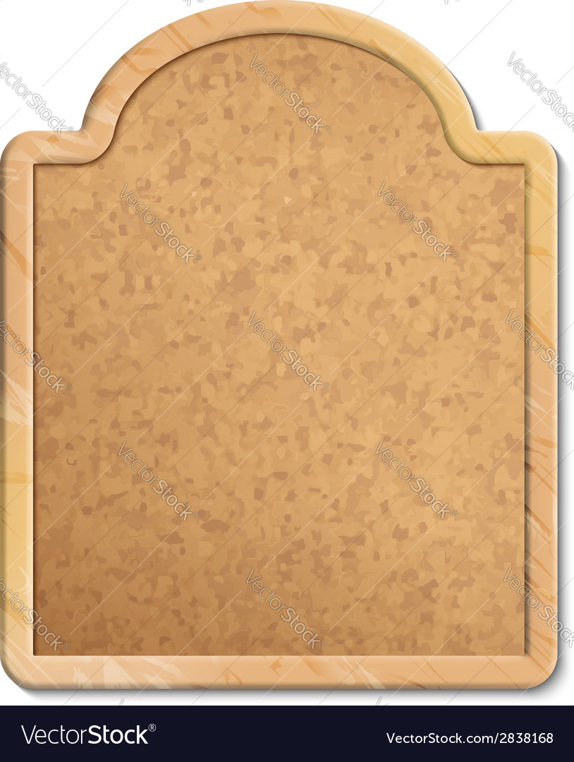 Cork board with wood frame vector | Price: 1 Credit (USD $1)