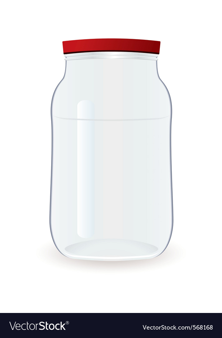 Empty jam jar vector | Price: 1 Credit (USD $1)