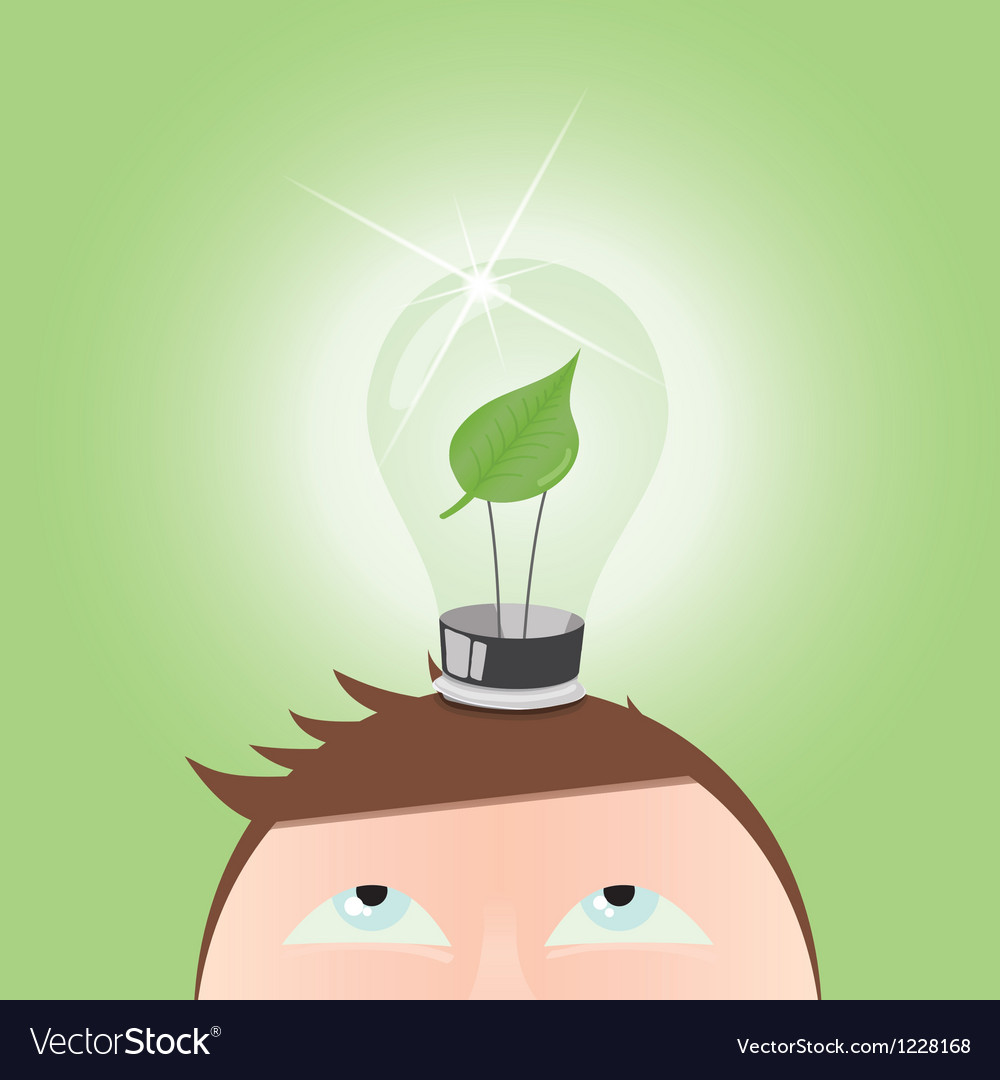 Green light bulb vector | Price: 1 Credit (USD $1)