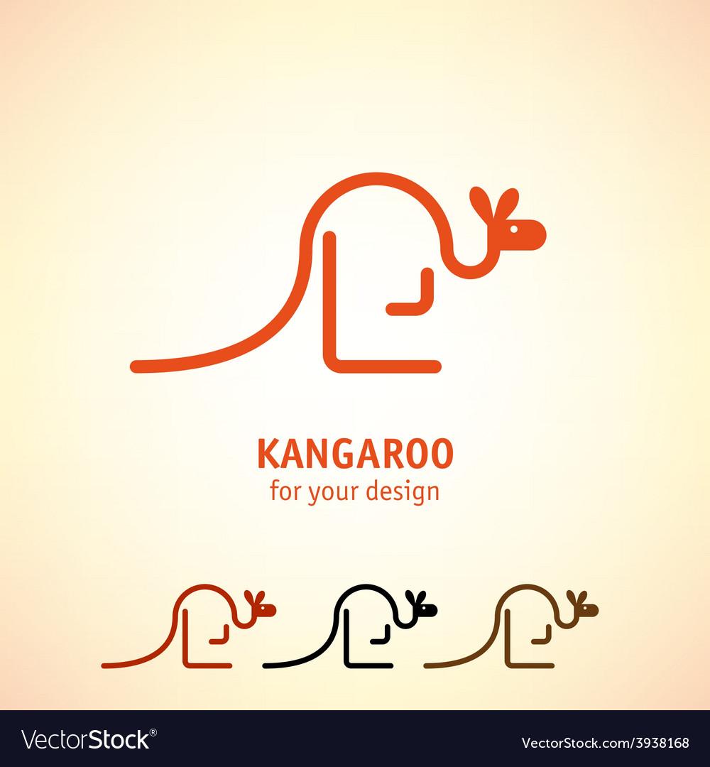 Kangaroo icon vector | Price: 1 Credit (USD $1)