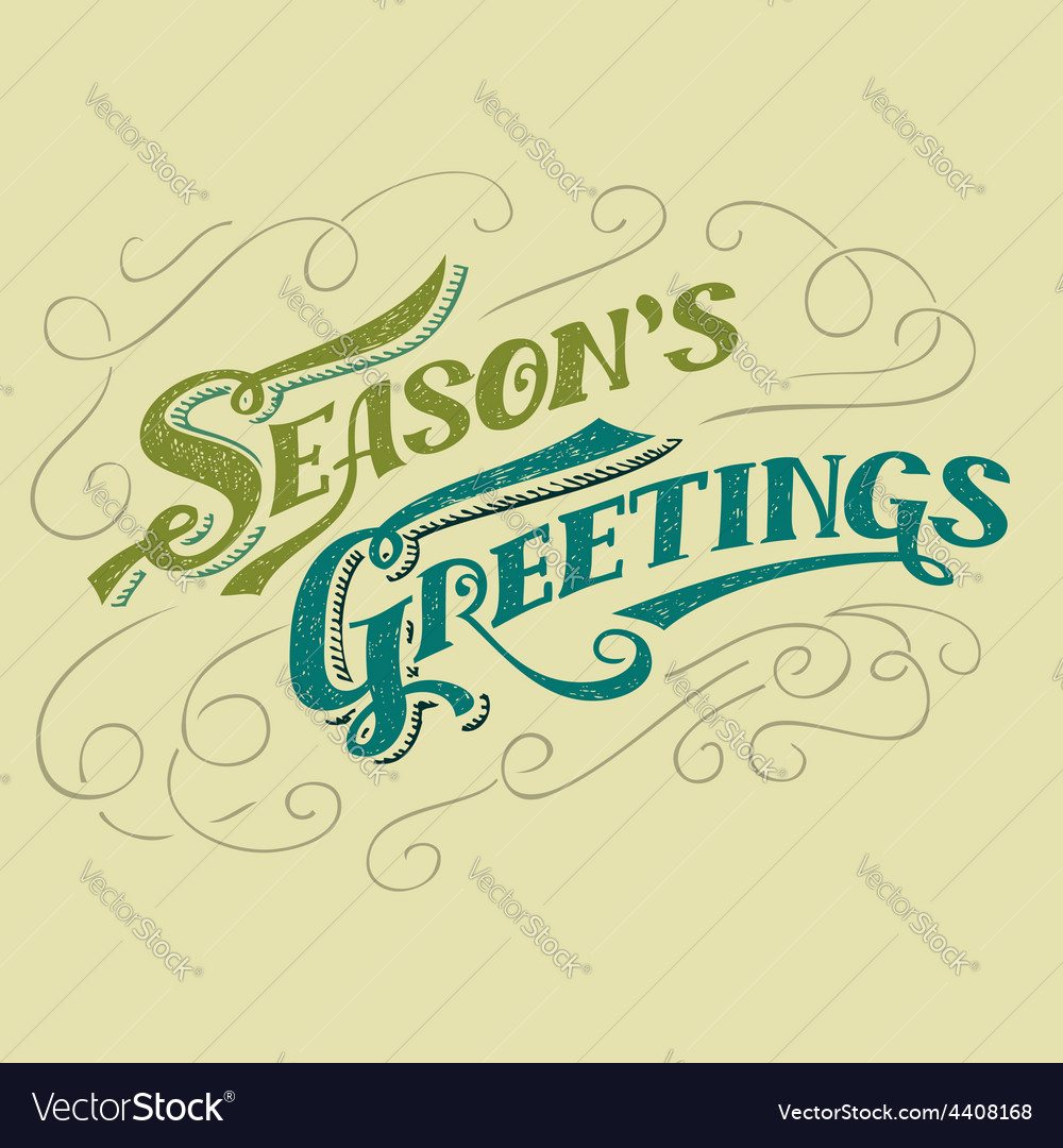 Seasons greetings typographic design vector | Price: 1 Credit (USD $1)
