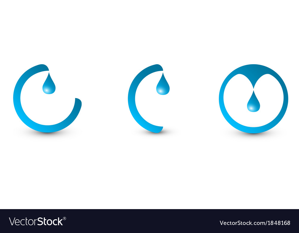 Water logo set vector | Price: 1 Credit (USD $1)