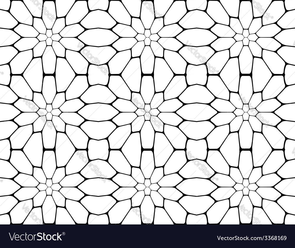 Design seamless monochrome polygon pattern vector | Price: 1 Credit (USD $1)