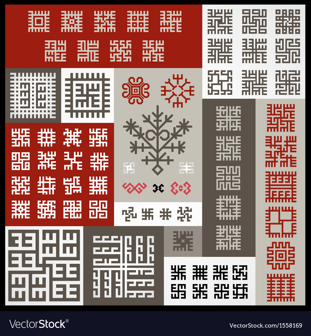Ethnographic ornaments vector | Price: 1 Credit (USD $1)