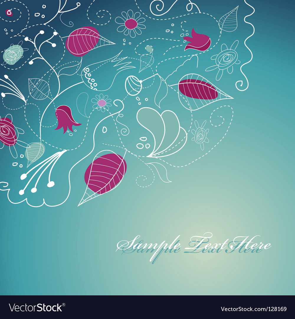 Flowery template vector | Price: 1 Credit (USD $1)