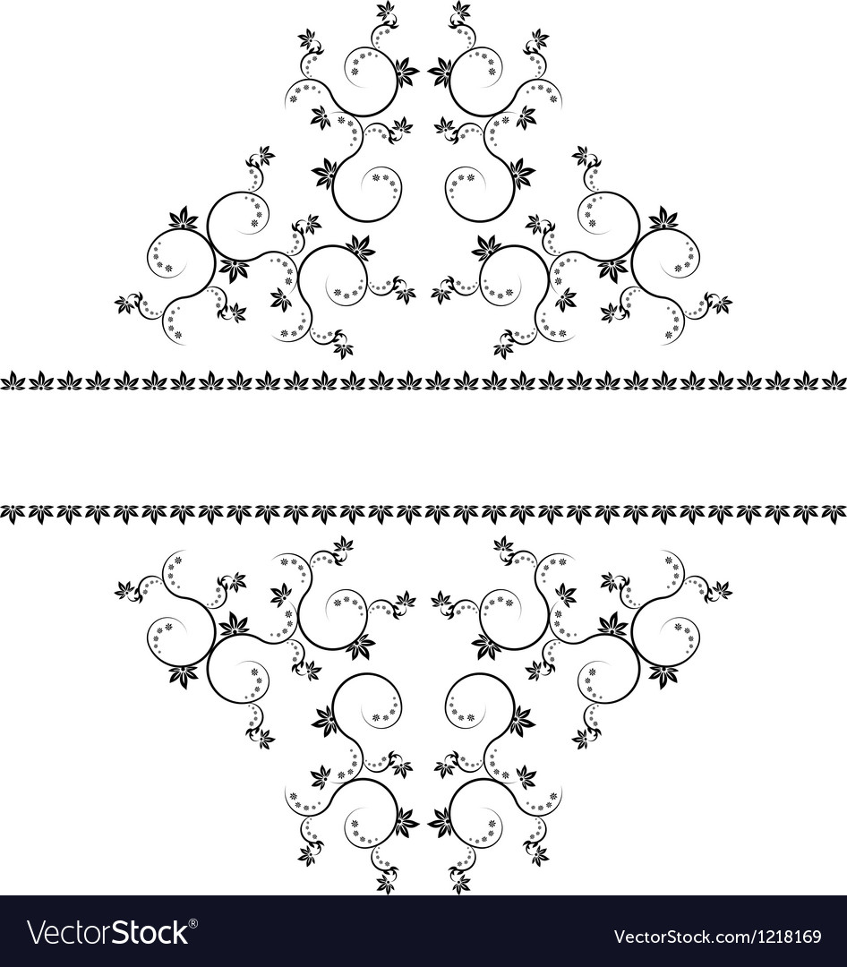 Frame with monograms for design and decorate vector   Price: 1 Credit (USD $1)