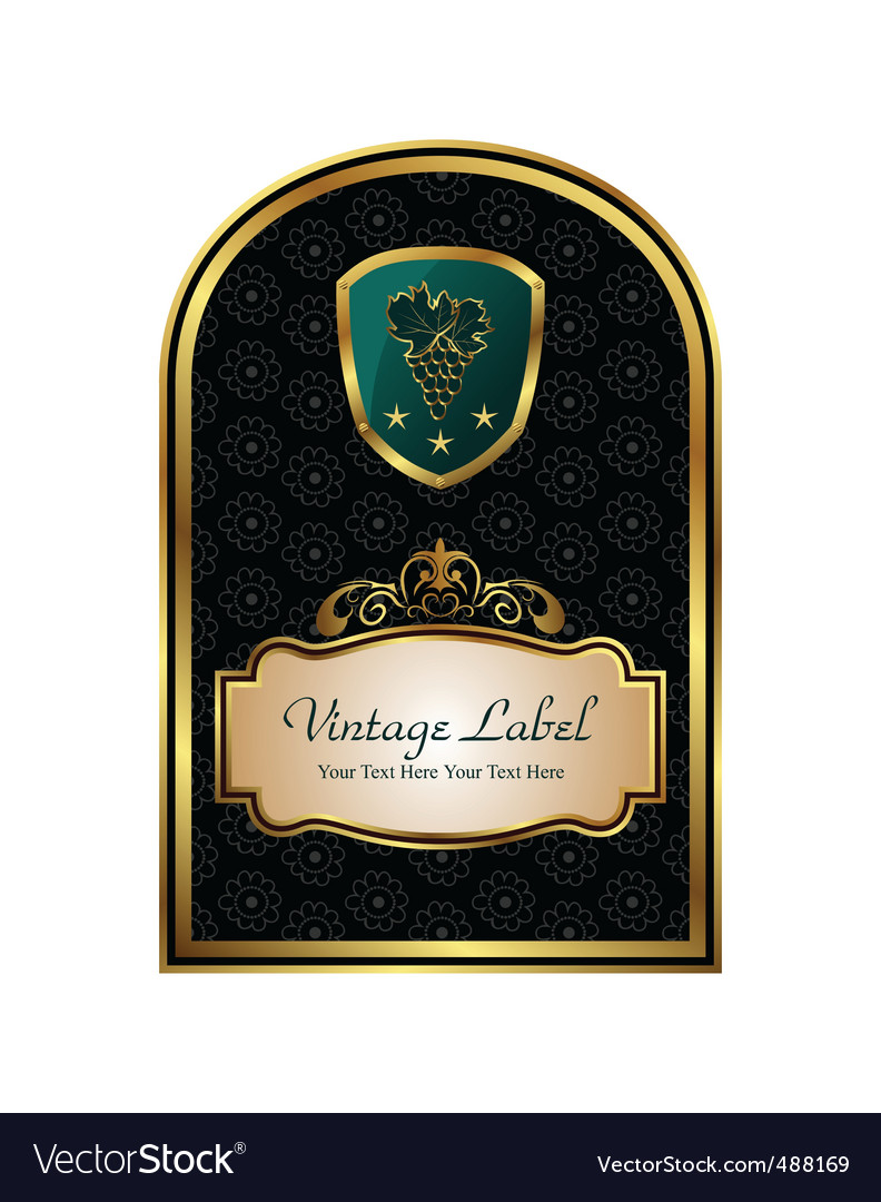 Golden frame label for packing vector | Price: 1 Credit (USD $1)