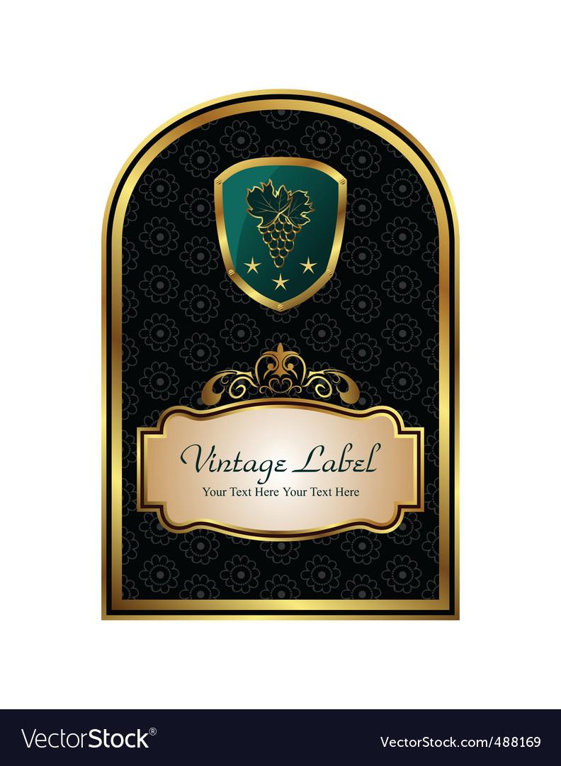 Golden frame label for packing vector | Price: 1 Credit (USD $1)