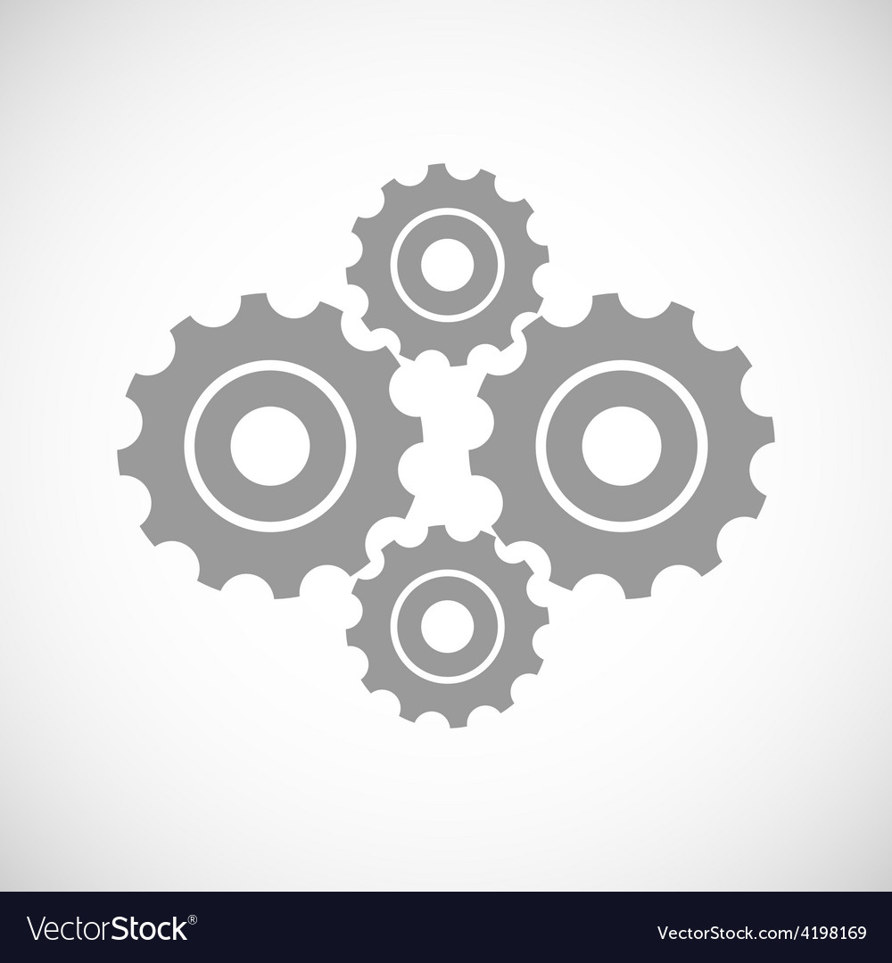 Mechanism black icon vector | Price: 1 Credit (USD $1)