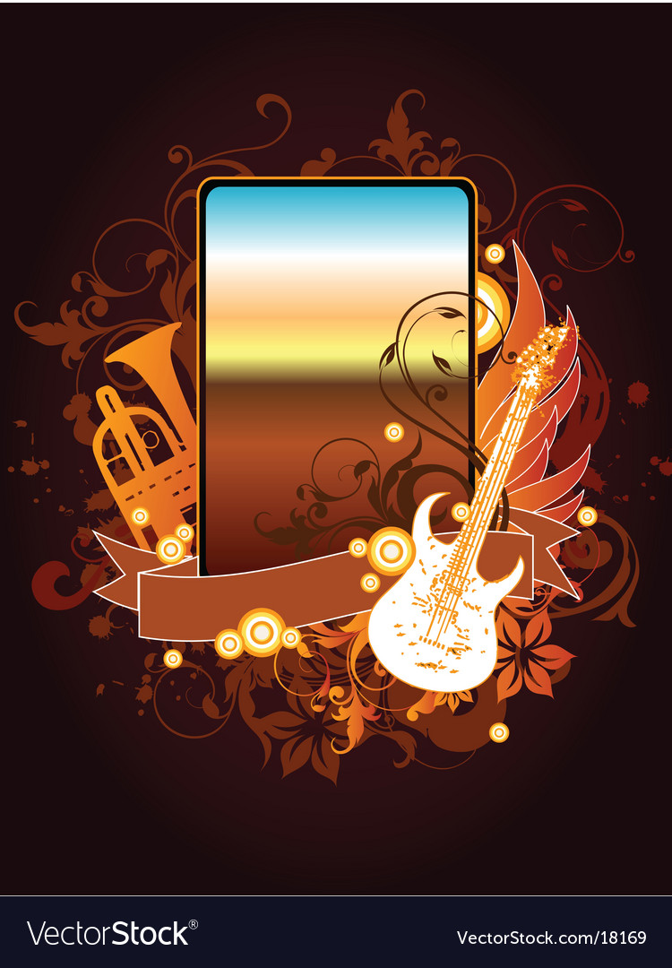 Musical instrument frame vector | Price: 3 Credit (USD $3)
