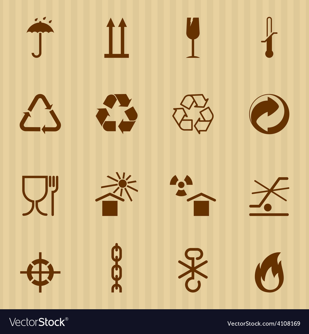 Packing and logistic icons vector | Price: 1 Credit (USD $1)