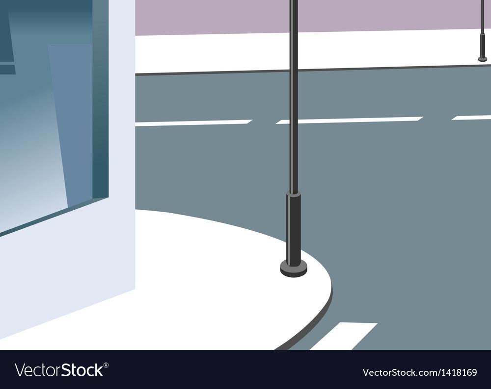 Street corner vector | Price: 1 Credit (USD $1)