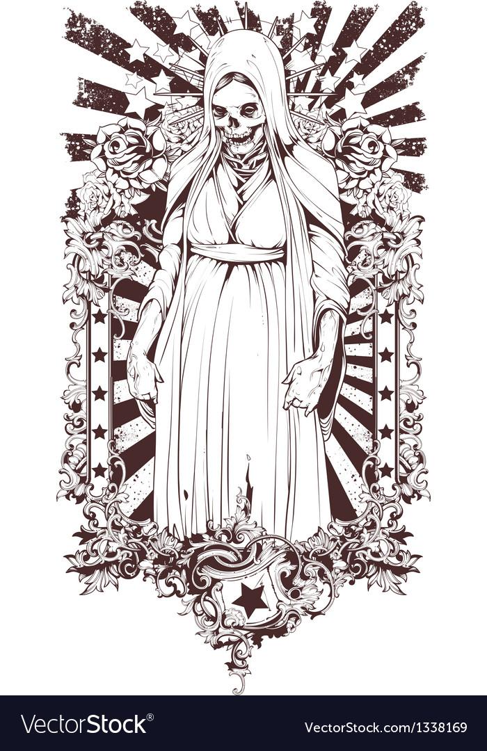 Zombie religious symbol vector | Price: 1 Credit (USD $1)