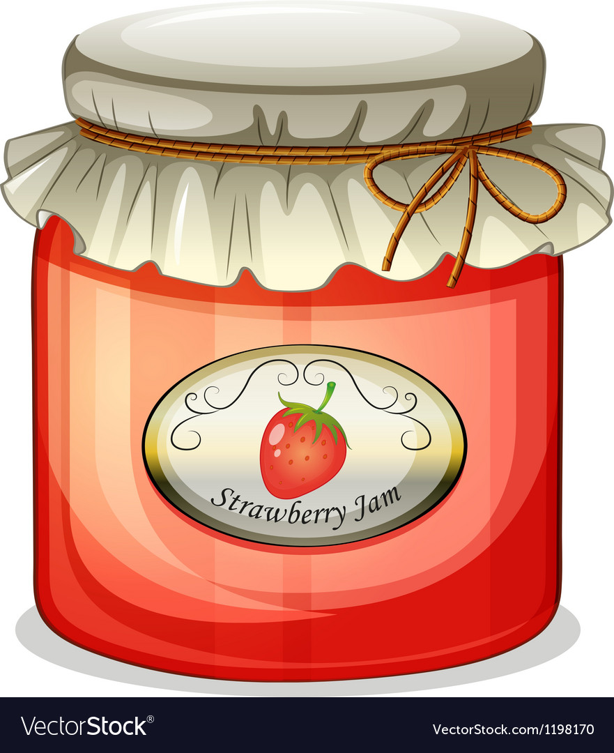 A strawberry jam vector | Price: 1 Credit (USD $1)