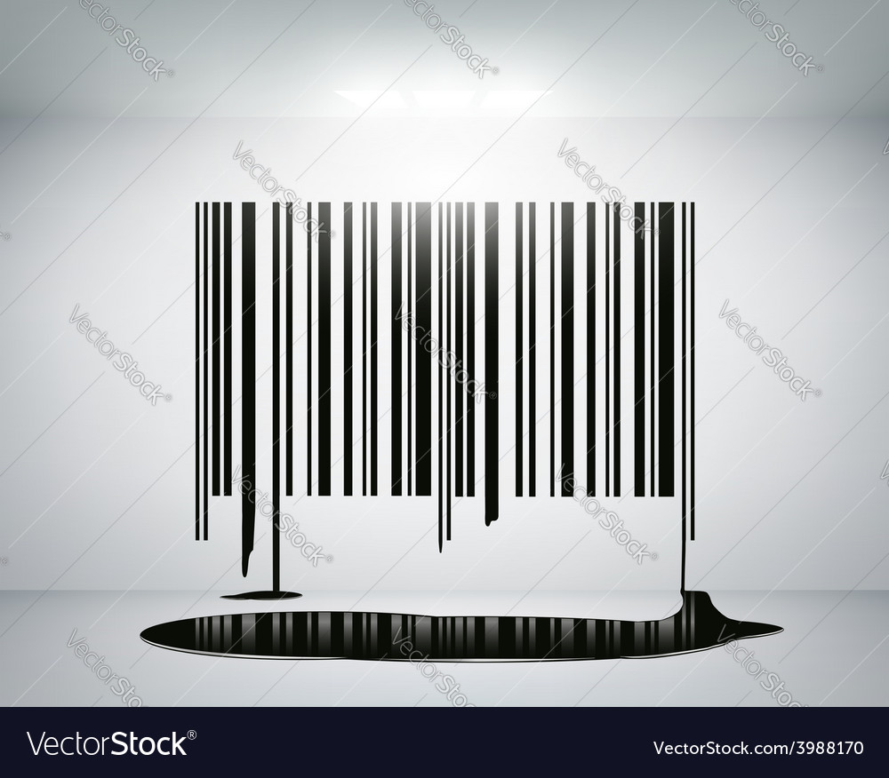 Barcode on the wall vector | Price: 1 Credit (USD $1)