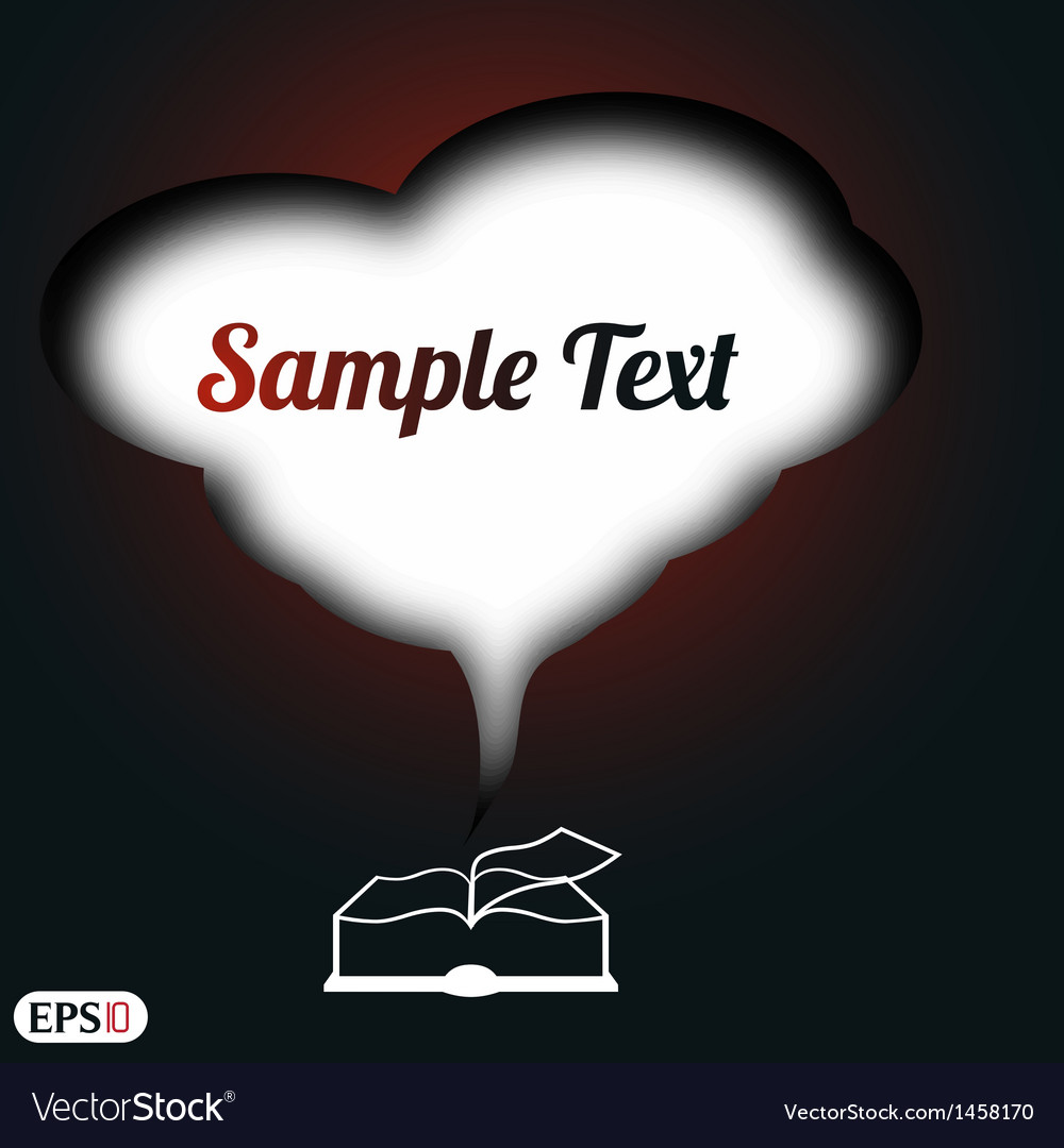 Book with space for text vector | Price: 1 Credit (USD $1)