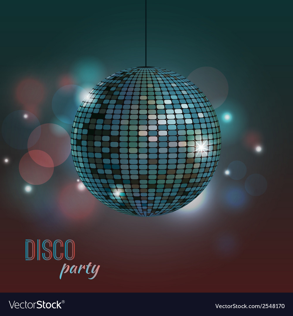 Colorful of disco ball vector | Price: 1 Credit (USD $1)