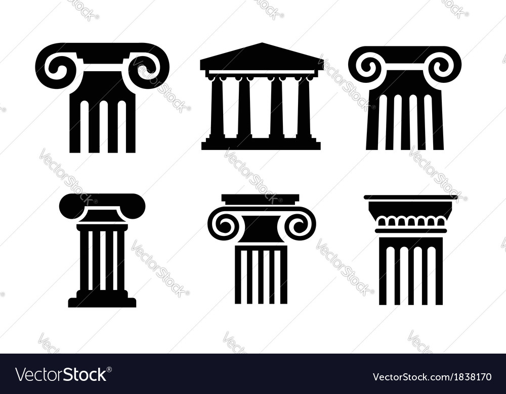 Column icons vector