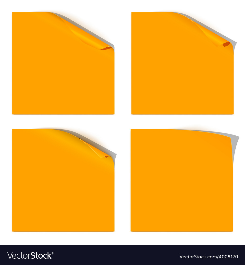 Curled orange paper corner vector | Price: 1 Credit (USD $1)