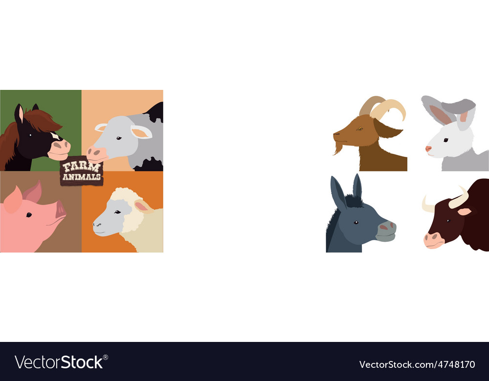 Farm animal design vector   Price: 1 Credit (USD $1)