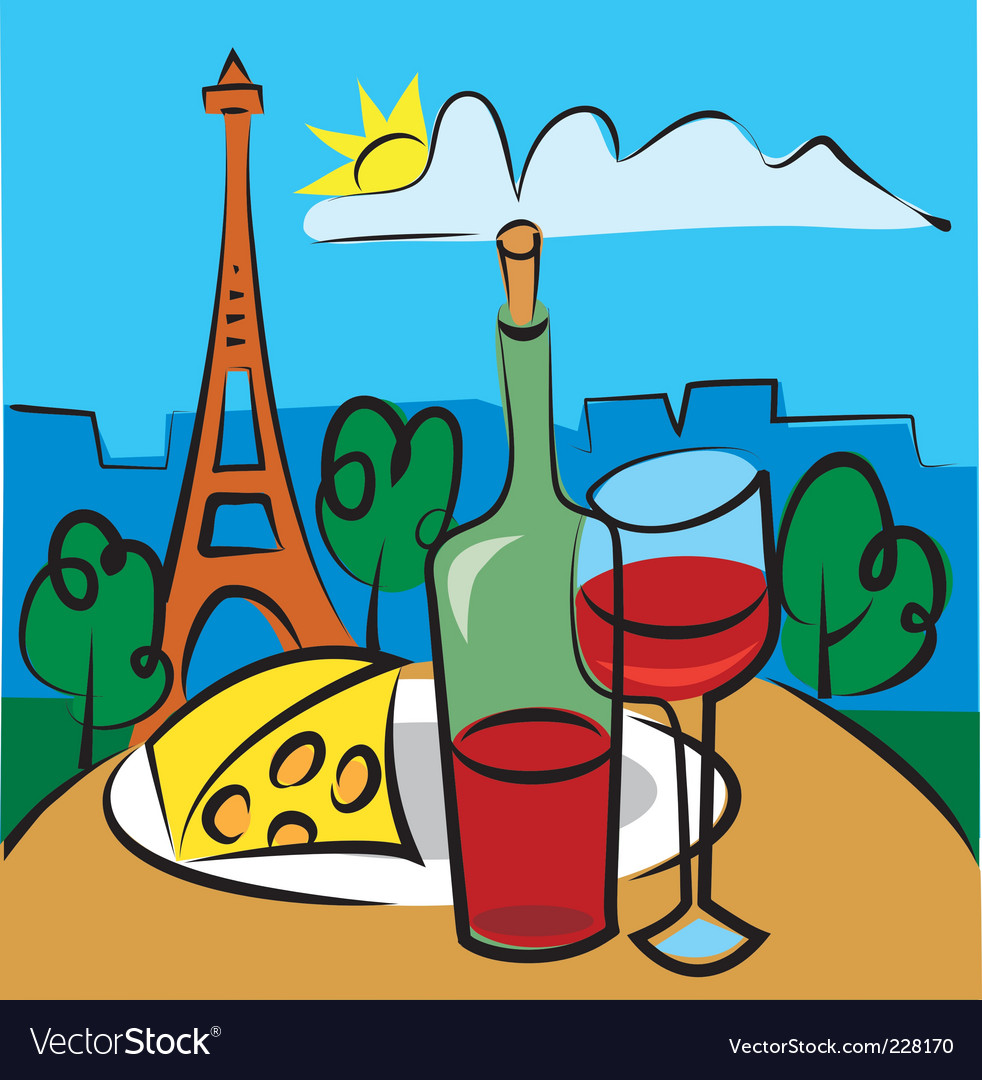 French wine vector | Price: 3 Credit (USD $3)