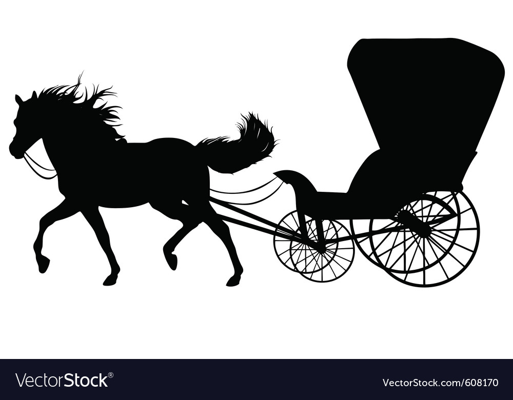 Horse with carriage vector | Price: 1 Credit (USD $1)