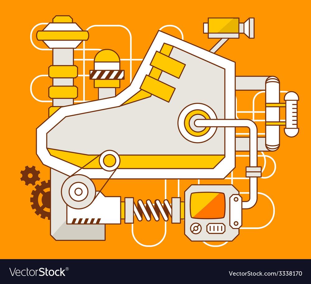 Industrial of the mechanism of sneaker vector | Price: 3 Credit (USD $3)