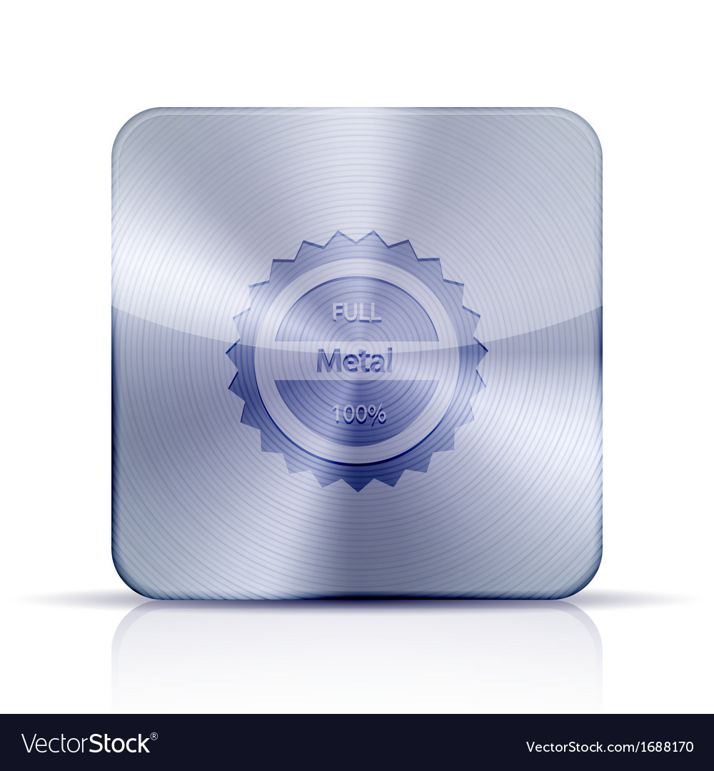 Metal app icon on white background eps10 vector | Price: 1 Credit (USD $1)