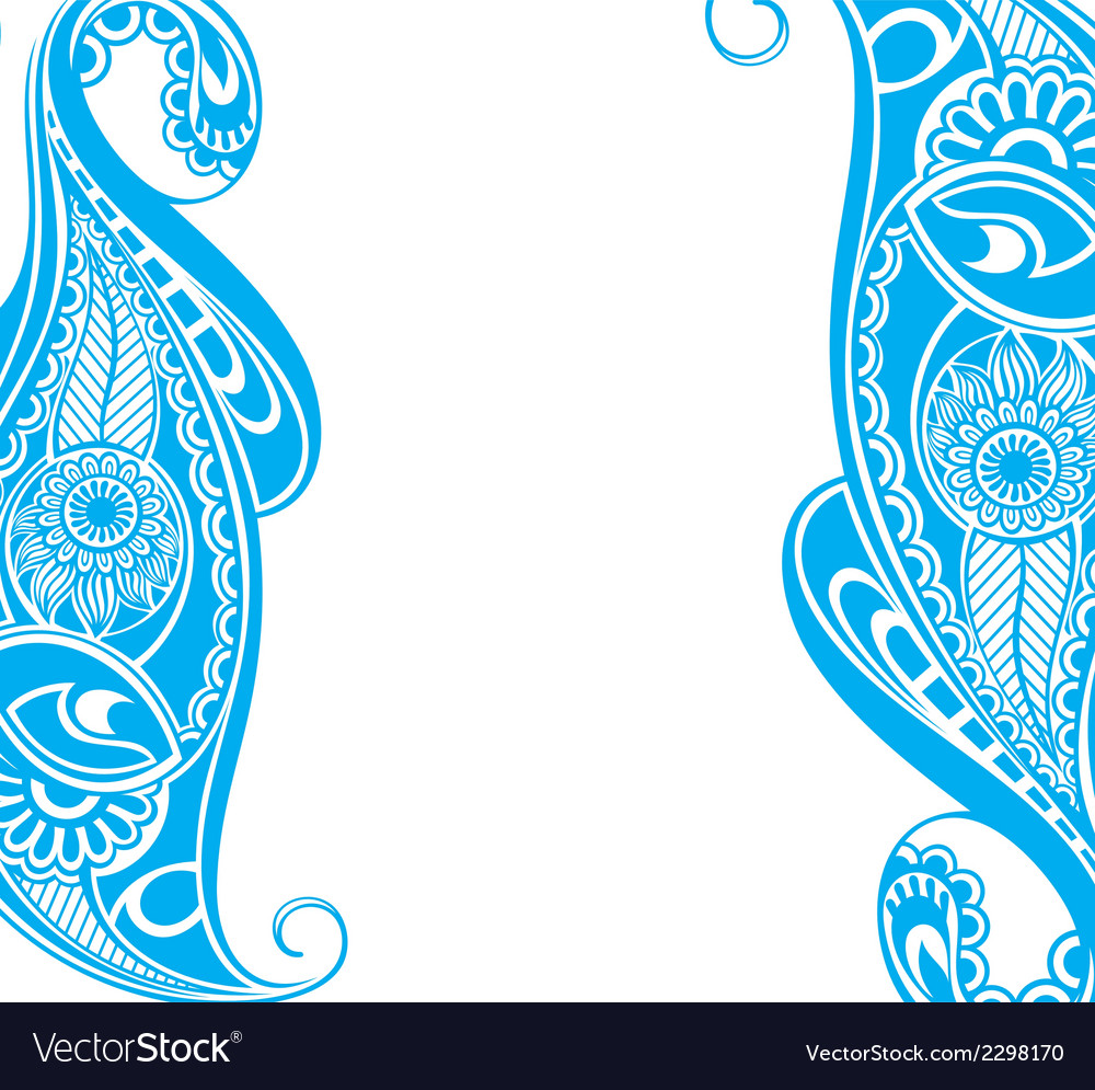 Water blue paisley vector | Price: 1 Credit (USD $1)