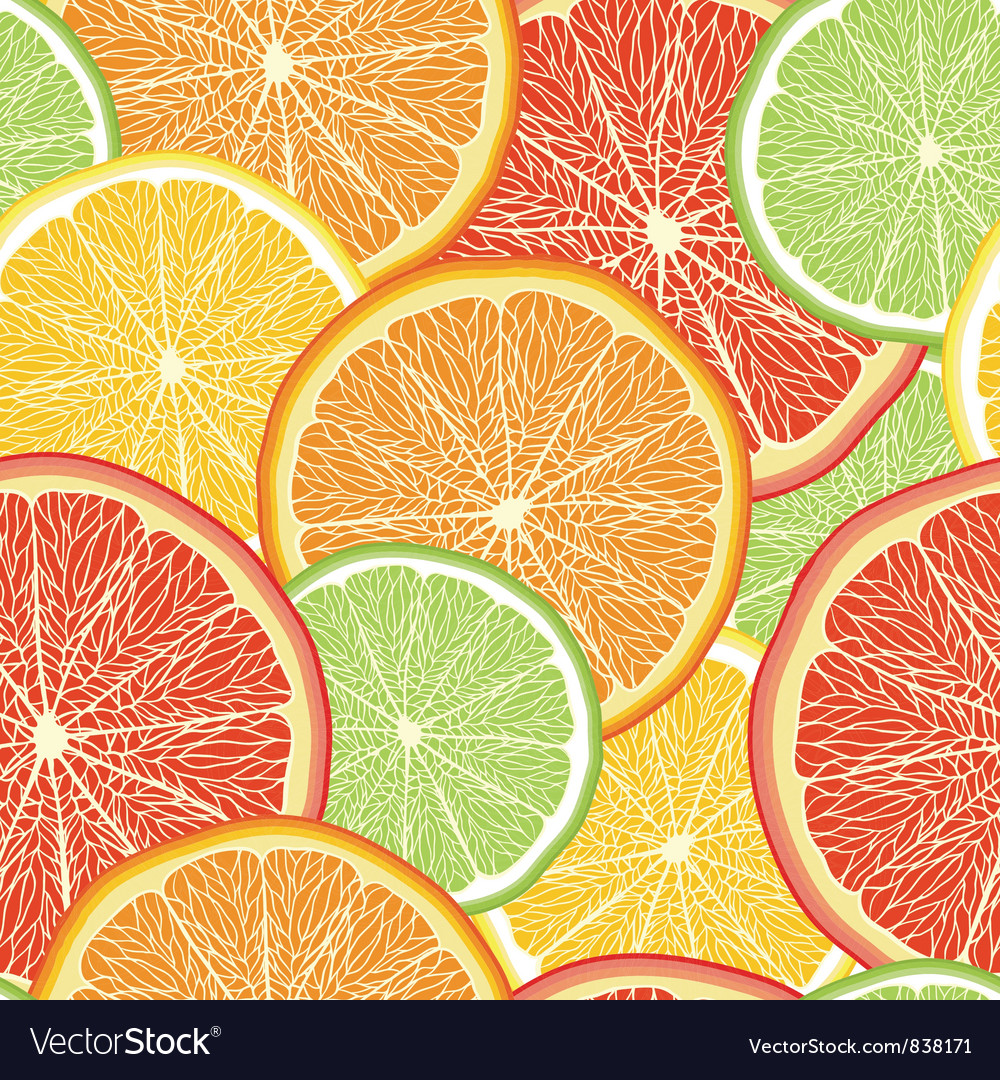 Abstract color background with citrus fruit vector | Price: 1 Credit (USD $1)