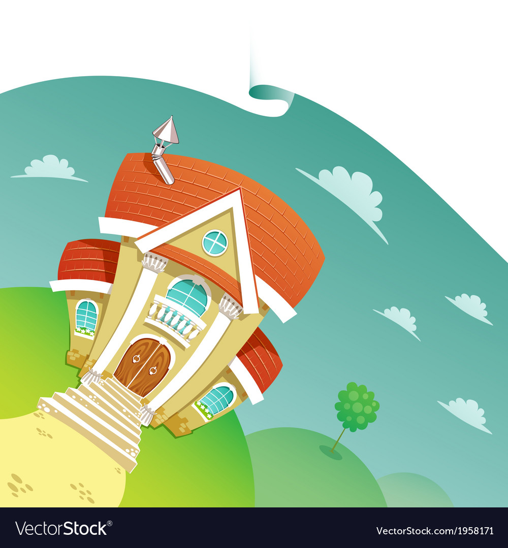 Beautiful house vector | Price: 1 Credit (USD $1)