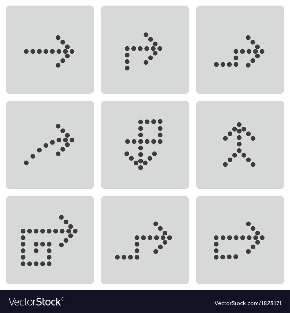 Black arrows icons set vector | Price: 1 Credit (USD $1)