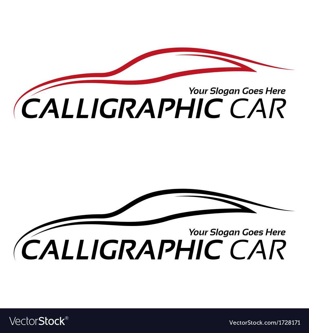 Calligraphic car logos vector | Price: 1 Credit (USD $1)